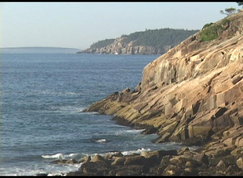 Establishing-shot of Acadia National Park, Maine Stock Video Footage