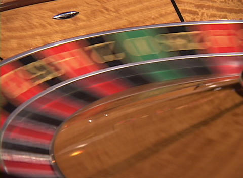 A spinning roulette wheel Footage