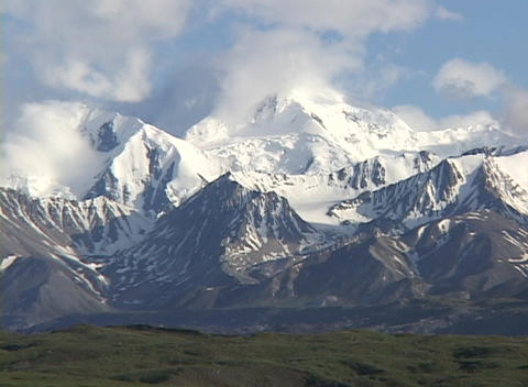 Mt. McKinley in Denali National Park, Alaska Footage