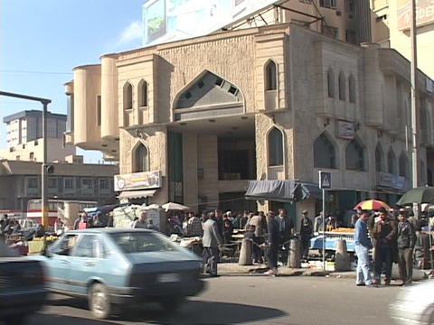 The streets of Baghdad are filled with people Stock Video Footage