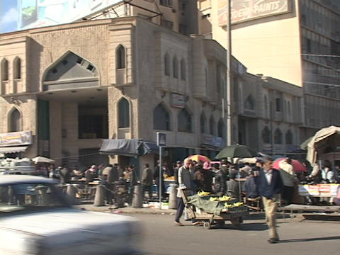 The streets of Baghdad are filled with people Footage