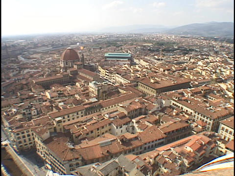 The sun shines on Florence, Italy Stock Video Footage