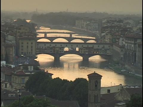 The Armor River flows through Florence Stock Video Footage
