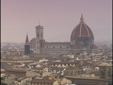 The Duomo towers over Florence Stock Video Footage