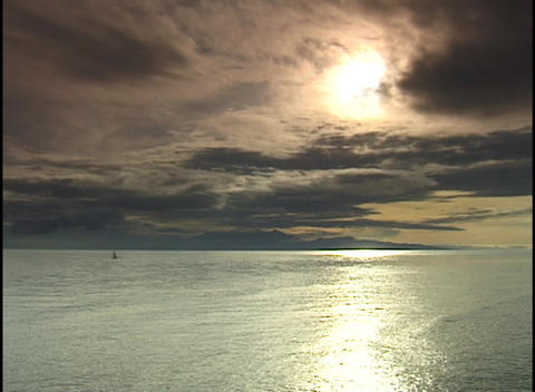 Calm waves roll gently toward shore Stock Video Footage