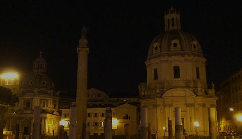 A night view of Rome Stock Video Footage