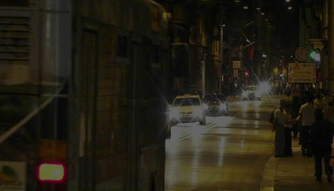 Night Traffic In Rome, Italy stock footage