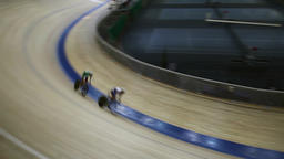 cycling pursuit on track Footage