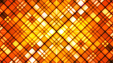 Broadcast Twinkling Cubic Diamonds, Orange, Abstract, Loopable, 4K Animation