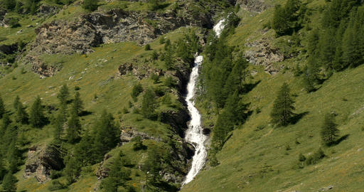 Waterfall, Western Alps, France Footage