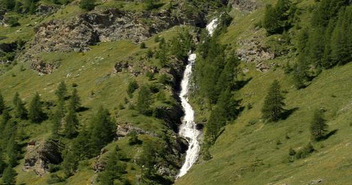 Waterfall, Western Alps, France Footage