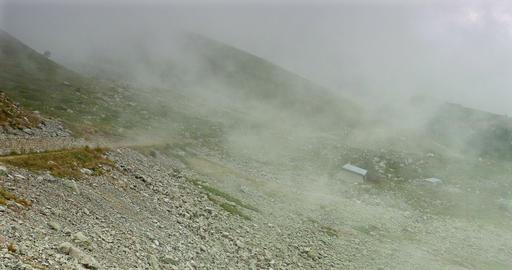 Fogbank And Mist At Vallon De Caralaite, France Footage