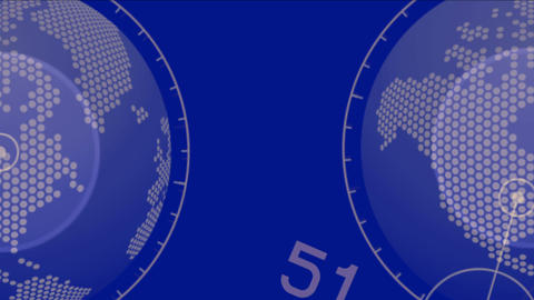 4k global GPS earth city map military Radar GPS screen navigation interface Footage