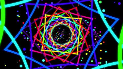 VJ Squares Tunel Loop Animation