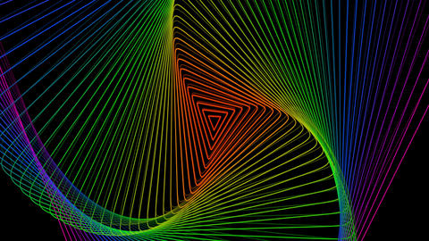 Multi Colored Triangles Tunnel Animation