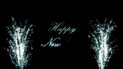Firecrackers with Happy New Year Text Animation