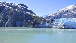 Beautiful snow covered mountain range in alaska Footage