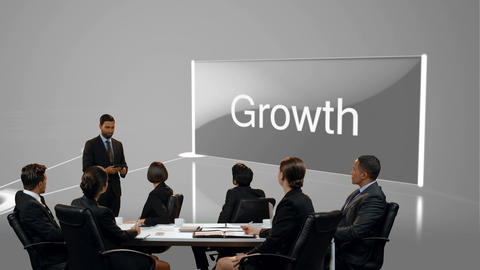 Businessman presenting to colleagues in a meeting Animation