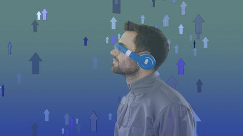 Man wearing virtual goggles Animation