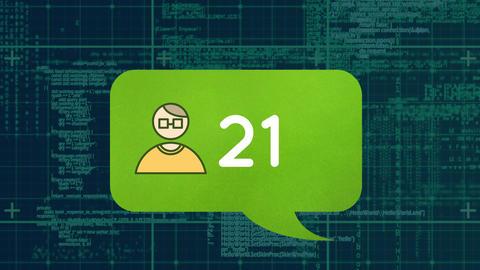 Message bubble icon Animation