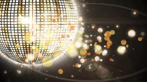 Disco ball and bokeh lights Animation