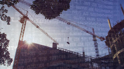 Tower crane and binary codes Animation