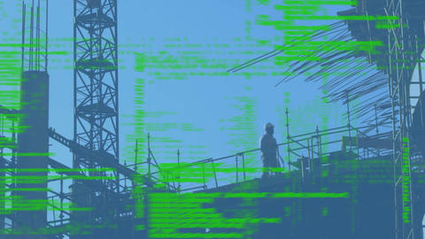 Silhouette of a construction location Animation