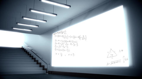 Mathematical equations on an lcd Animation