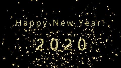 Gold Confetti New Year 2020 애니메이션