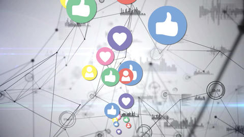 Social media icons and digital icons Animation