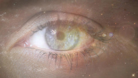 Eyes and galaxy Animation