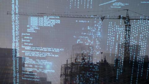 Tower crane and program codes Animation