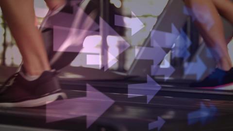 Running on a treadmill Animation
