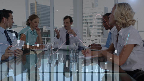 Business people having a meeting Animation