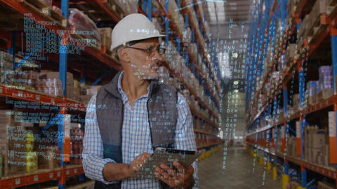 Warehouse manager checking on packages Animation