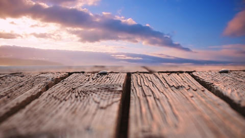 Deck with a view of the sky Animation