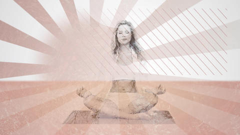 Woman meditating Animation