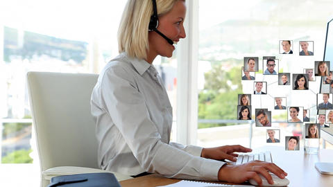 Call centre agent and multiple profiles Animation