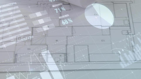 Architectural drawings on a table Animation