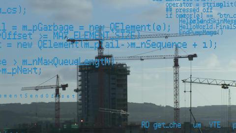 Lift cranes and program codes Animation