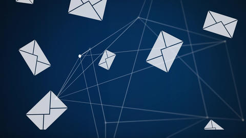 Emails icons on the screen Animation