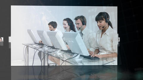 Call centre agents and their profiles Animation