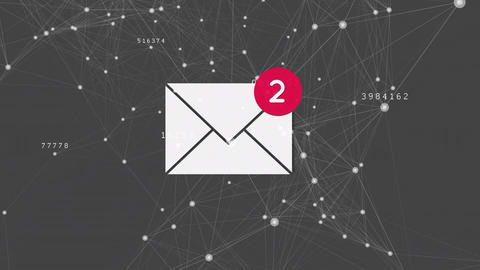 Email network connections Animation