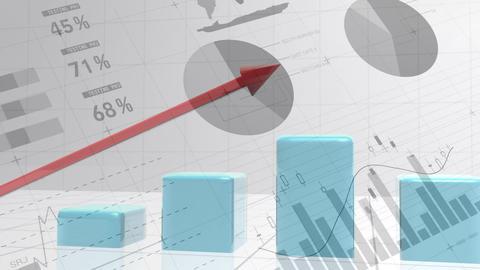 Bar graph increasing Animation