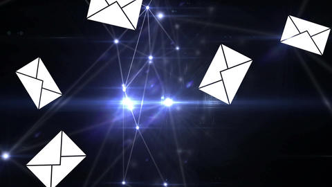 Network of messages Animation