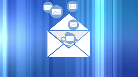 Emails messages flying Animation