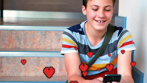 Little kid texting in love 4k Animation