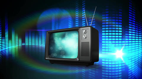 Television on an abstract background Animation