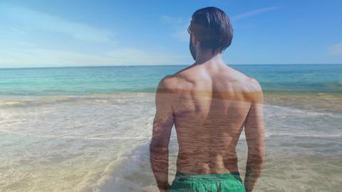 Man at a beach 4k Animation