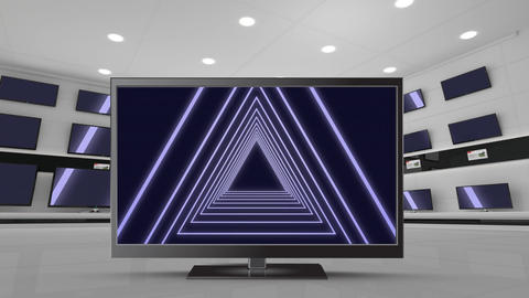Television with concentric triangles Animation